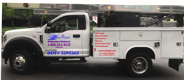 West Coast Plumbing Pumps & Filtration, LLC Truck